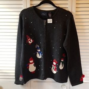 NWT Womens Large Crazy Horse Christmas Sweater